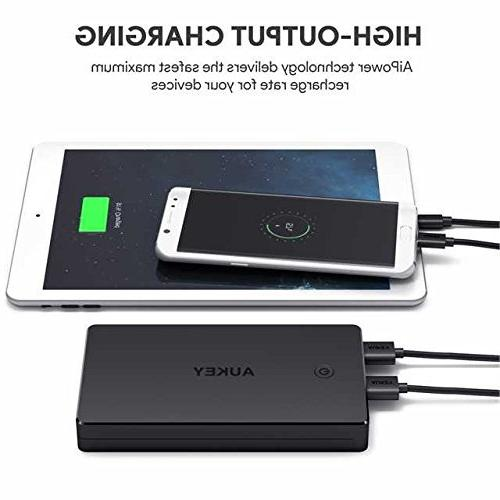 AUKEY Bank, Portable Charger with Inputs, 3.4A Output Battery Compatible Xs/XS Max 8 / Plus,