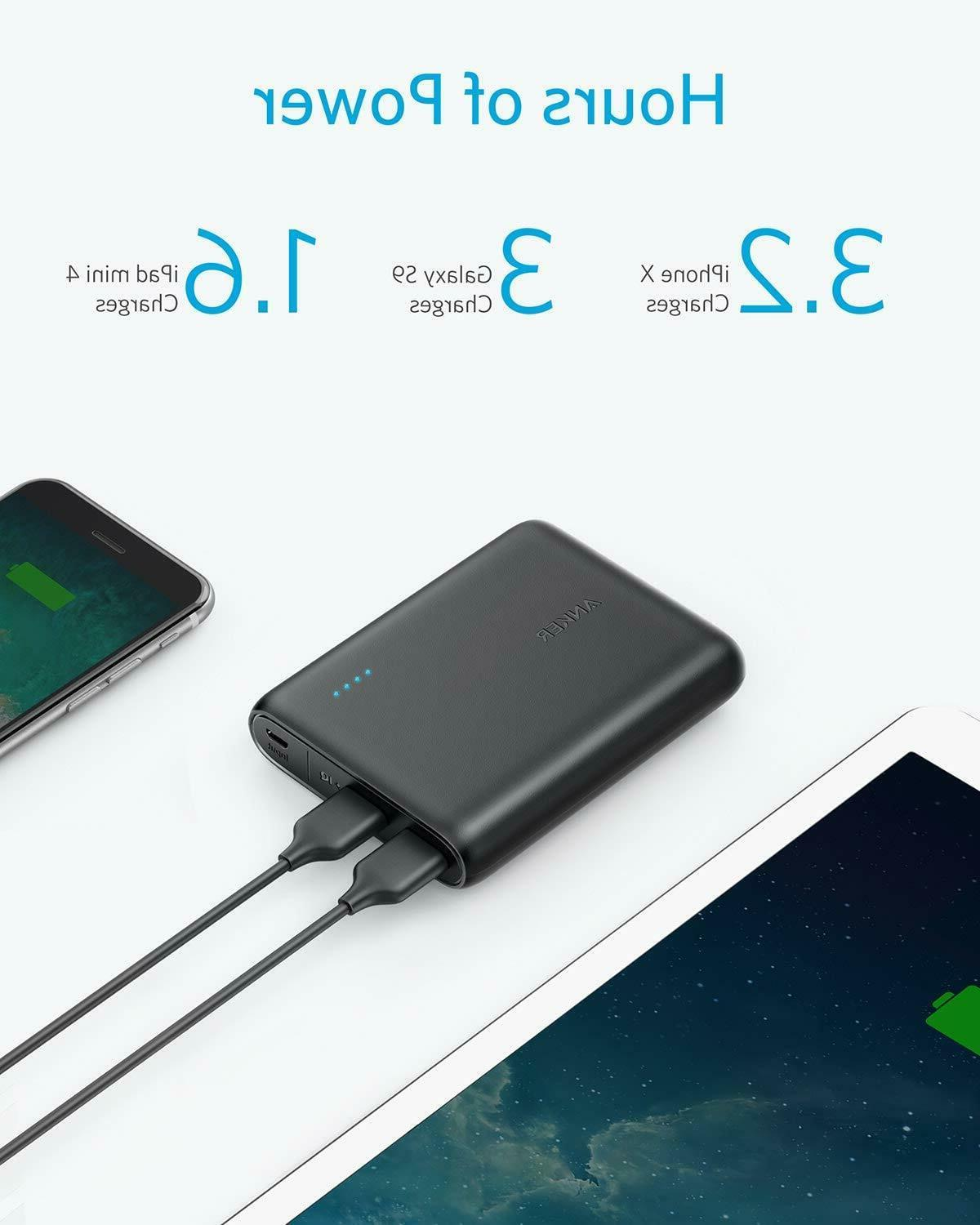Compact 13000mAh 2-Port Ultra-Portable Phone Charger Power B