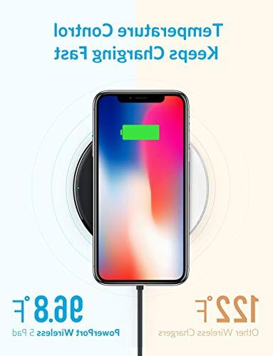 Wireless Charger, Ultra-Slim Wireless iPhone Xs Galaxy 8 More, 5 Pad