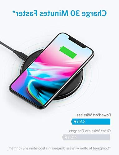 Wireless Anker Ultra-Slim Charger Compatible iPhone Galaxy 8 More, PowerPort Wireless Pad