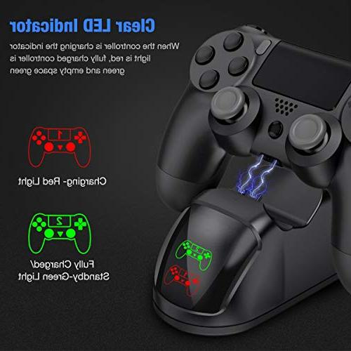 BEBONCOOL E20-UK Charger, DualShock Controller USB Dock, 4 Station for Sony / PS4 PS4 Slim / PS4 Pro Controller