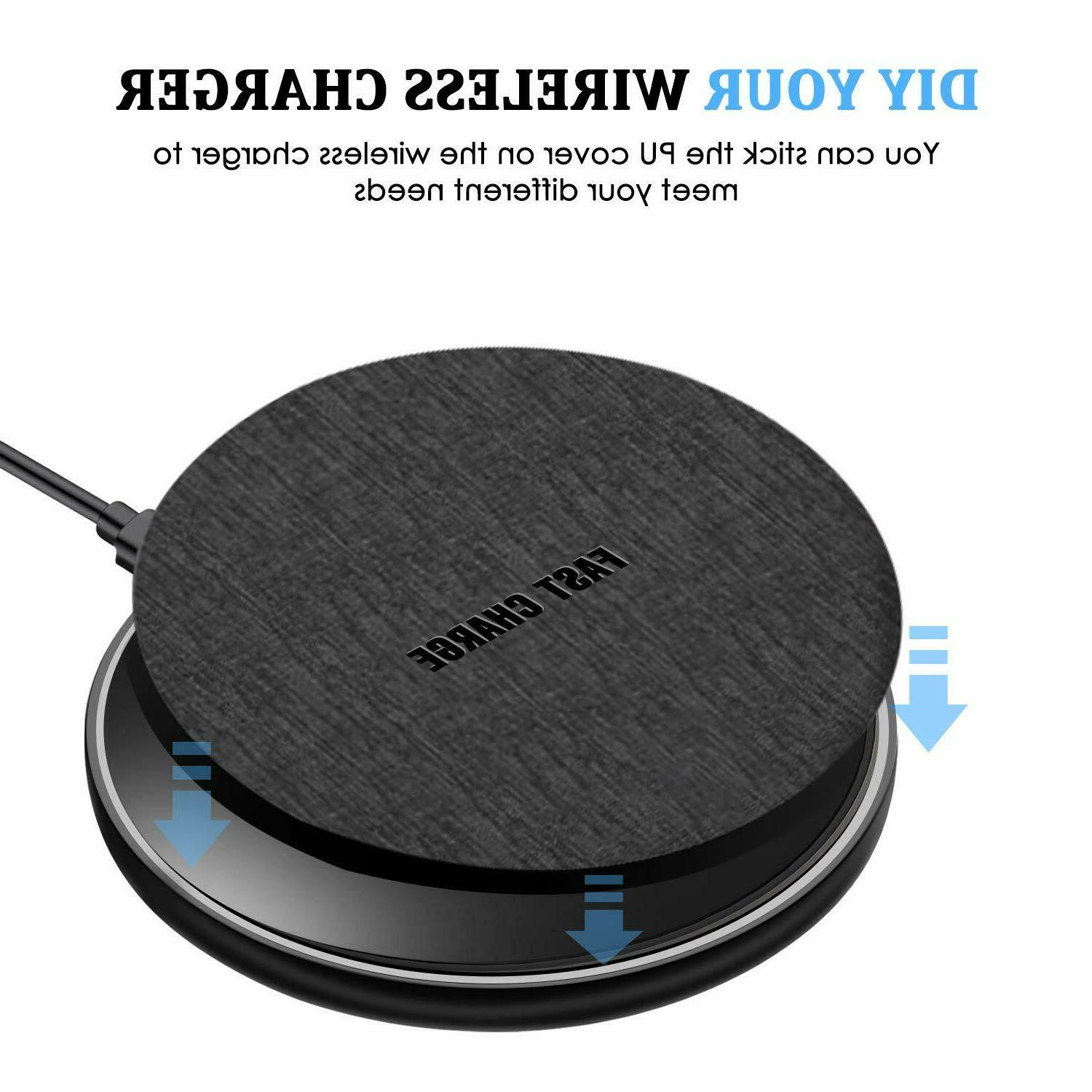 Qi Fast Charger Charging Pad Iphone Samsung Galaxy Note S8 S7