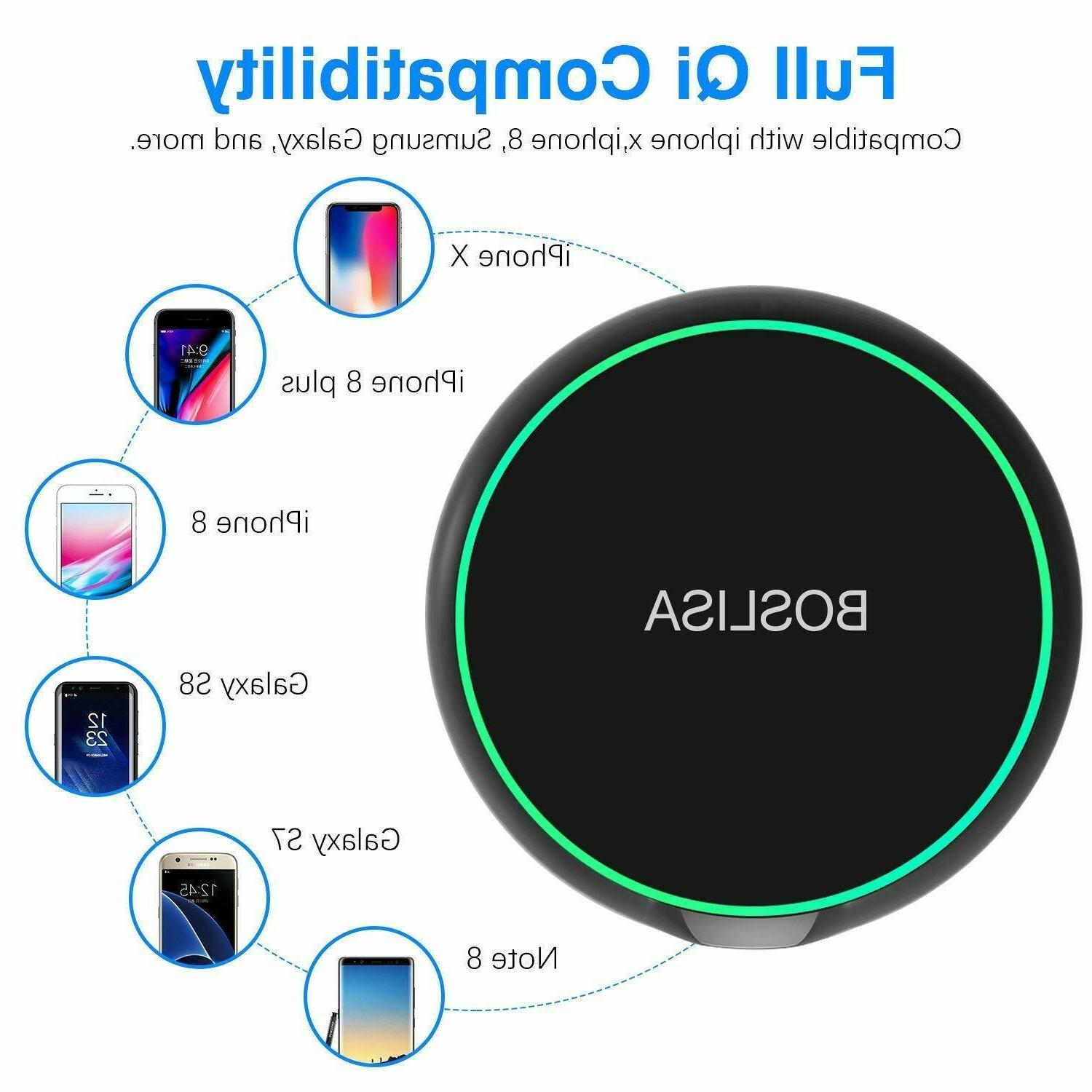 Qi Charging Pad for Samsung Galaxy S8 S7
