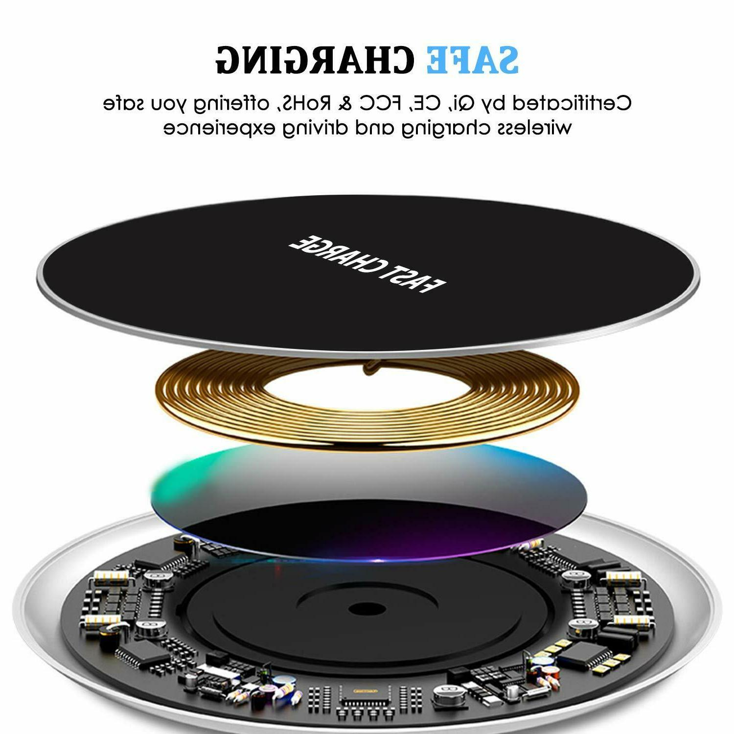 Qi Wireless Fast Charging Samsung Galaxy Note 8 S8 S7