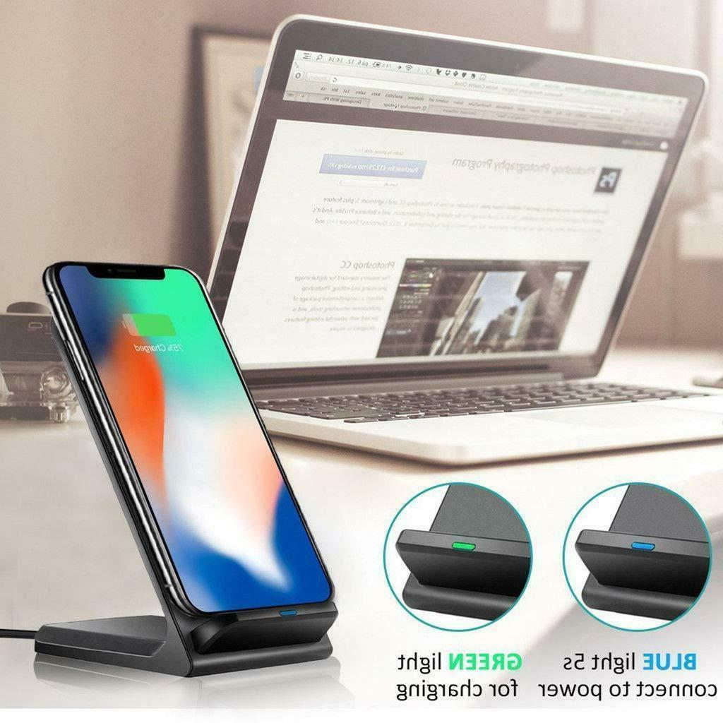 Qi Wireless Fast Charging Pad Galaxy S9 iPhone X 8