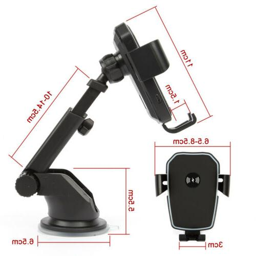 Qi Fast Car Mount Holder Stand 2 in For Phone