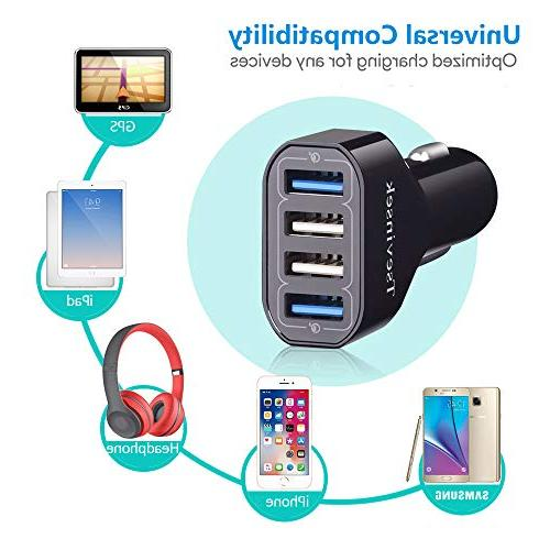 USB 48W Charge Fast Charger with 4 Ports Samsung S9 S7 Plus, 8, Max XR X 8 6 Plus, Pixel More Cell Phones