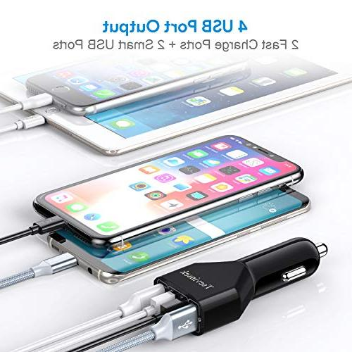 48W Quick Fast with Ports for Samsung S9 S8 S7 8, iPhone XS XR X 6 iPad, Google Pixel Cell Phones