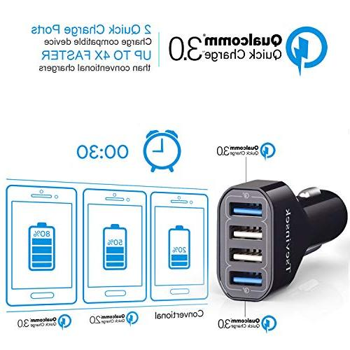 USB 48W Quick Charge Fast with Ports Samsung Galaxy S9 S7 Plus, 8, XR 7 6 iPad, Pixel More Phones