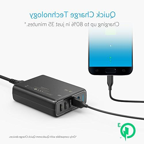 Anker Charge 63W USB Charger, for Galaxy iPhone iPad, LG, Nexus, HTC and