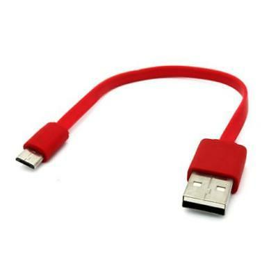 red short flat usb cable rapid charger