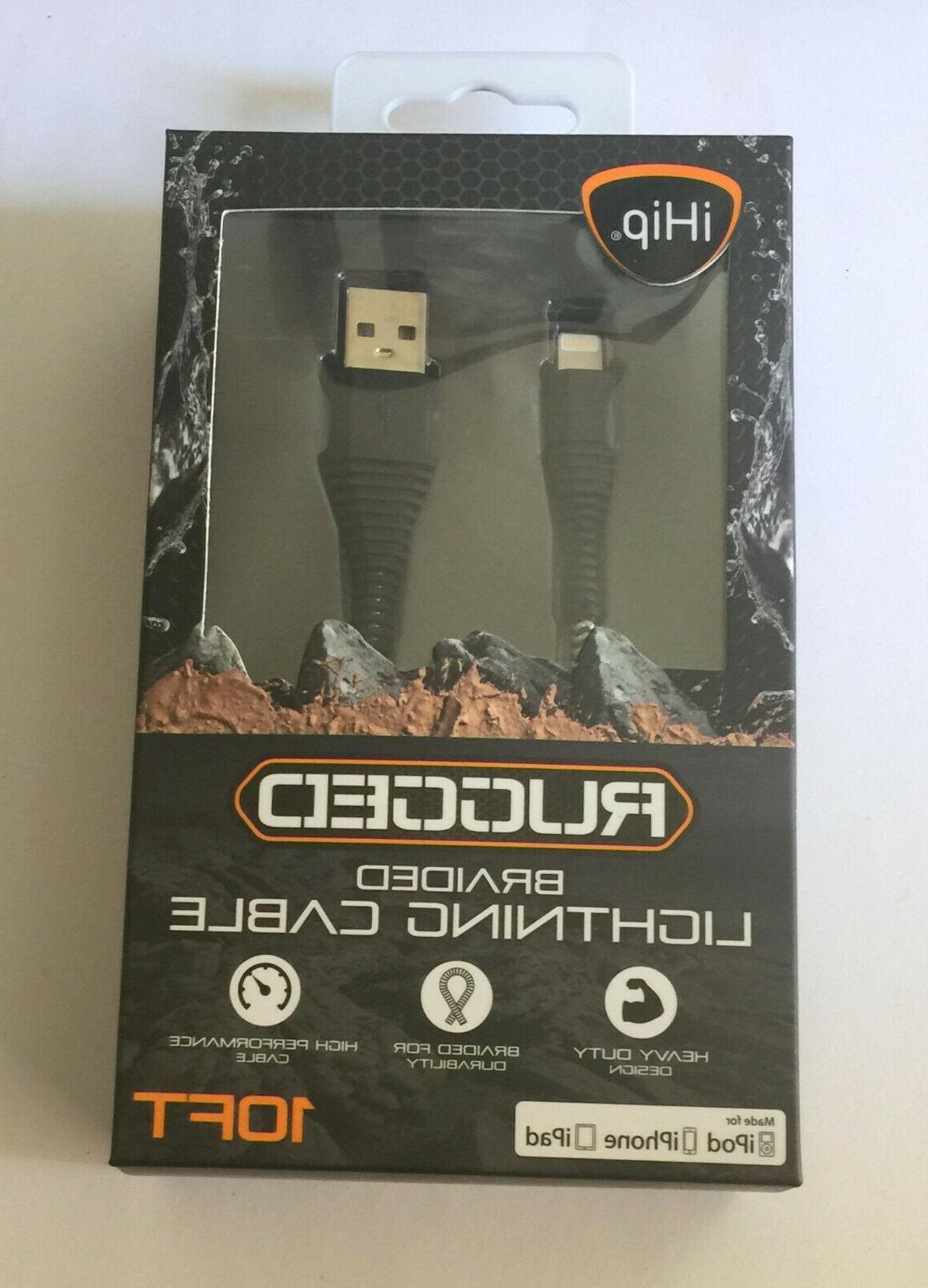 rugged braided lightning cable for ipad ipod