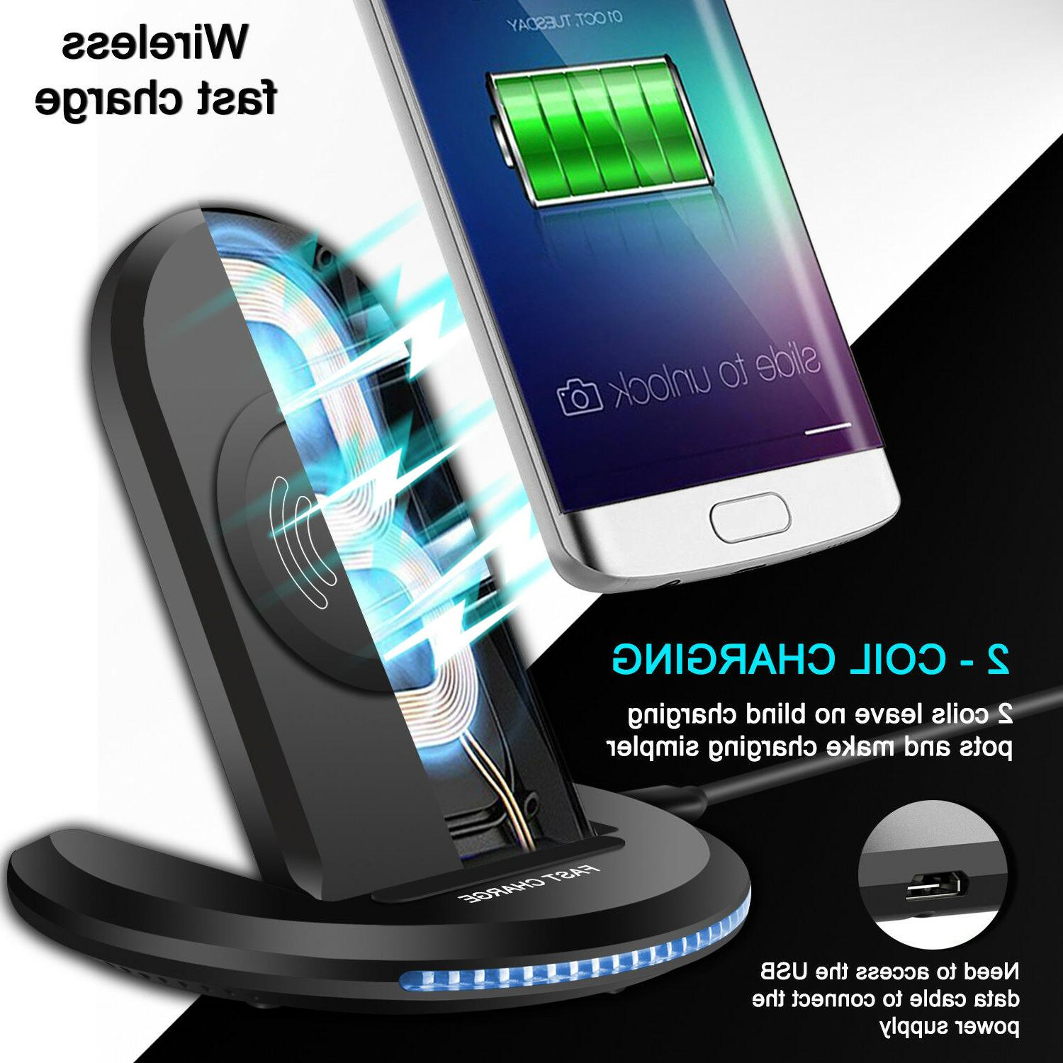 S9/ Qi Fast Charger Stand Pad