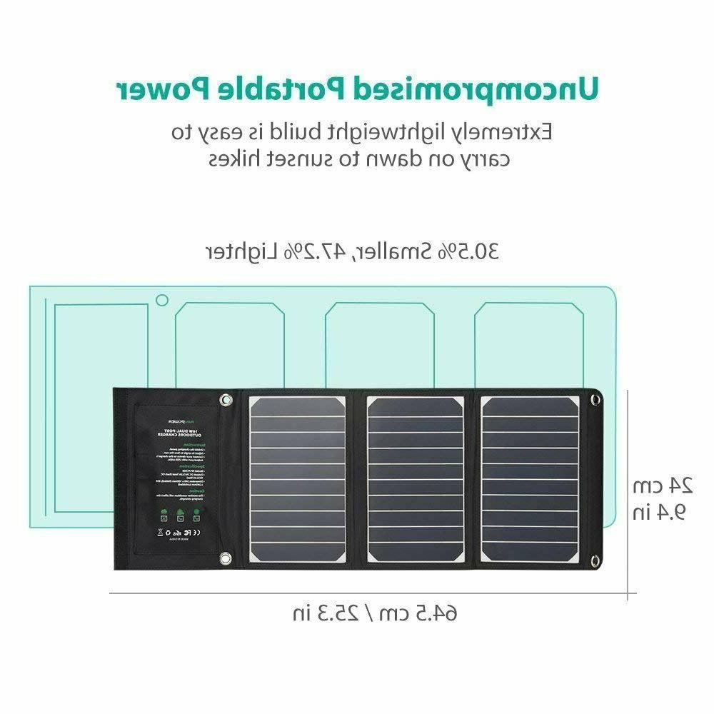RAVPower Solar Charger 16W Solar Panel USB
