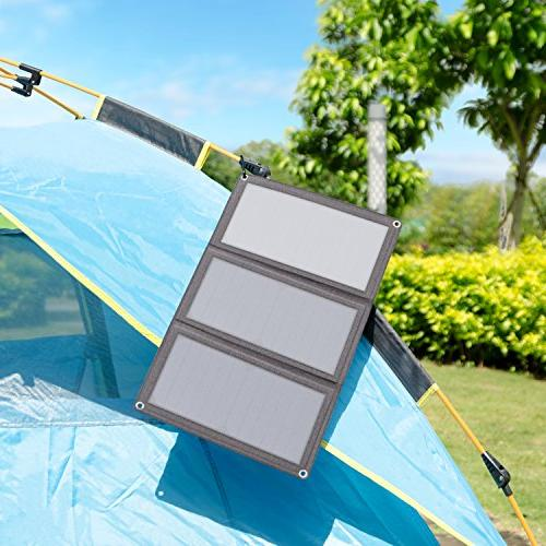 AUKEY 21W Solar with Foldable Panels Ports Samsung