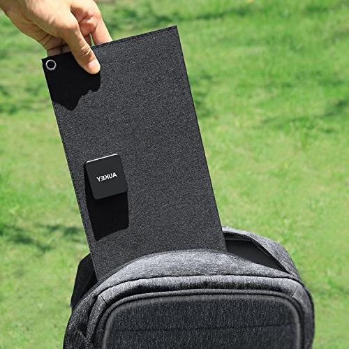 AUKEY Solar Charger with Foldable SunPower Solar Panels & Samsung and More