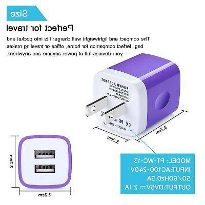 Type C Charger,Phone Charging Block,Kakaly Dual Port Phone ... New