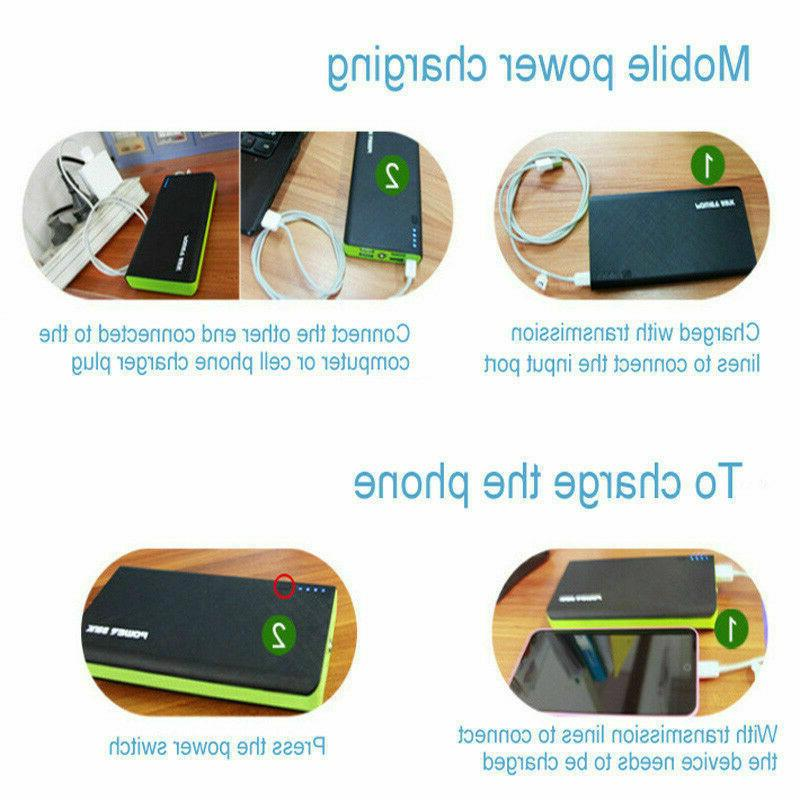 US 2019 New Portable External Battery Power Bank 900000mAh Capacity