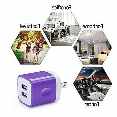 USB Wall Charger, 2.1A/5V 5-Pack