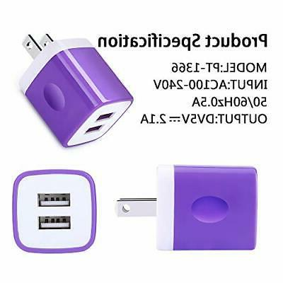 USB Charger, 5-Pack Kakaly