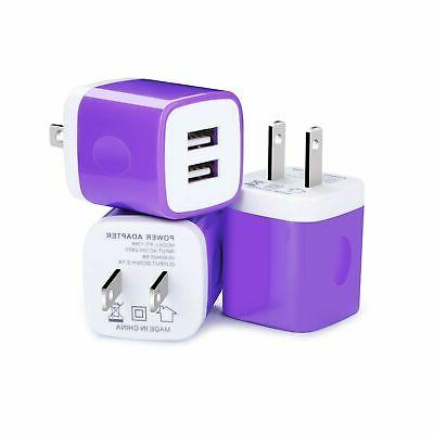 usb wall charger 3 pack charger brick
