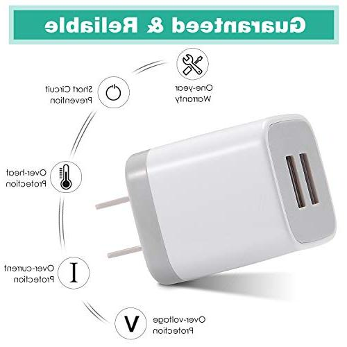 USB Wall Charger, 3-Pack Port USB Charging Cube Compatible iPhone 8/7/6 SE/5S/4S, Android