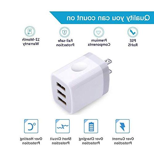 USB Charging, 2Pack Charger X/8/7/6s/Plus, Pro/Air Galaxy