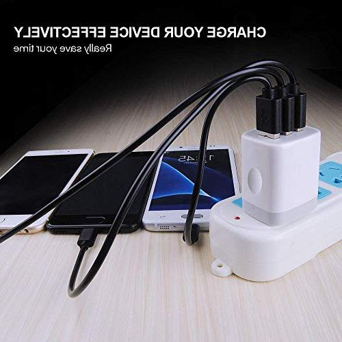 USB Charging, Ououdee 3.1A Universal Home Charger iPhone X/8/7/6s/Plus, Galaxy Nokia More
