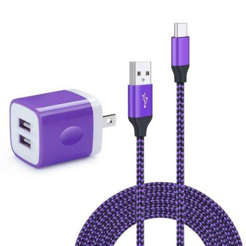 wall charger dual port adapter with 6ft