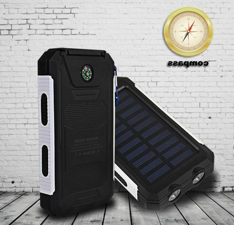 2020 Waterproof Solar Bank Battery Charger New US