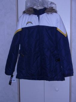 LA CHARGERS; NFL Apparel Women's Med or XL Jacket Hood  G-II