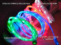 led light-up color usb data sync charger power charge cable