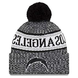 New Era Los Angeles Chargers Black & White 2018 Sport Knit N