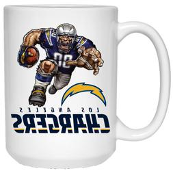 Los Angeles Chargers Boltman Player Mascot White 15 oz Ceram