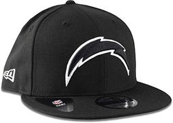 New Era Los Angeles Chargers Hat NFL Black White 9FIFTY Snap