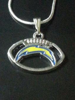 Los Angeles Chargers Necklace Pendant Sterling Silver Chain