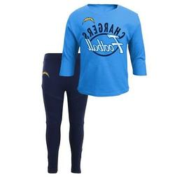 Los Angeles Chargers NFL Girls Long Sleeve T-Shirt & Pants S