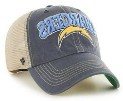 LOS ANGELES CHARGERS NFL SNAPBACK TRUCKER CLEAN UP SLOUCH CA
