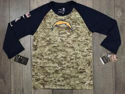 Nike Los Angeles Chargers Salute to Service Camo Raglan T-Sh