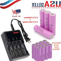 Lot Samsung 18650 30Q 3000mAh High Drain Rechargeable Vape B