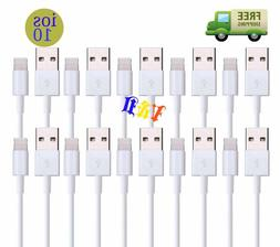LOT FO 3-6-10 foot USB Charger Cable Cord Compatible With iP
