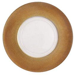 Luxurious Royal Premium 13 in Gold Rim Glass Round Shape Din