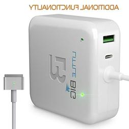 Macbook Pro Charger 60W Power Adapter Magsafe 2 T-tip Style