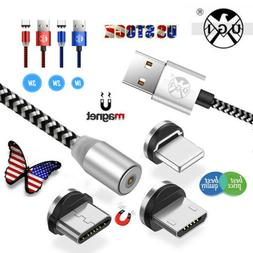 Magnetic Micro USB Cable For iPhone Samsung Type-C Magnet Ch
