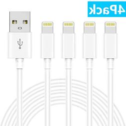 GEJIN MFi Certified Phone Cable 4 Pack  Extra Long USB Charg