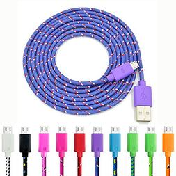 Micro USB Cable, Eversame 10-Pack 6Ft 2M Nylon Braided USB 2