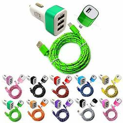 Micro USB Charging data Sync Cord + car & wall charger cable