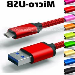 ✔ Micro USB Nylon Braided Rope Data Sync Charger Charging