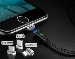 Micro USB Port Magnetic USB Cable Adapter Charger For iPhone