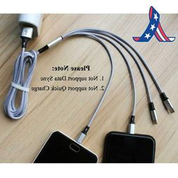Ckcoco Multi Usb Charger Cable 5Ft Nylon Braided Universal 4